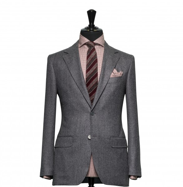 Tailored 2-Piece Suit - Fabric 4312 Plain Grey