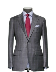 Tailored 2-Piece Suit - Fabric 4007 Check Grey