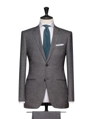 Charcoal-White Micro Design Flannel Super 120 270g 100% Wool. Code 4685